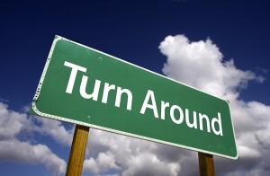Turn-Around-Sign